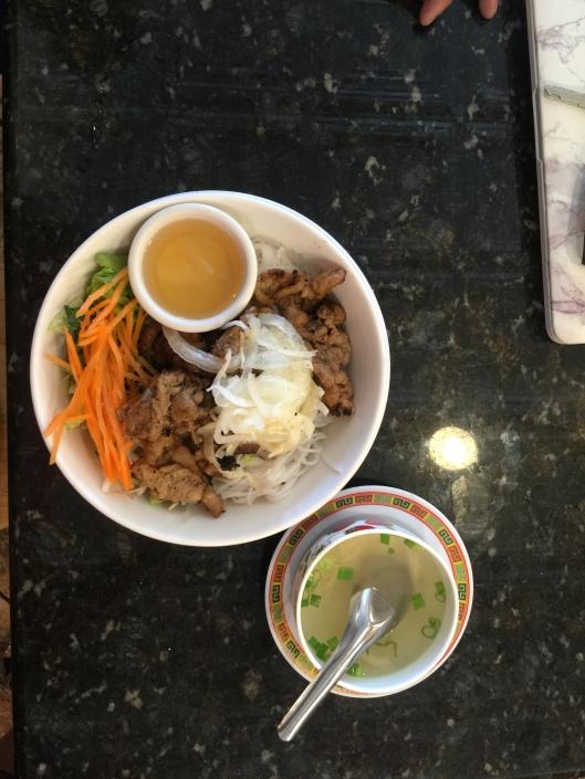 Grilled pork noodle dish